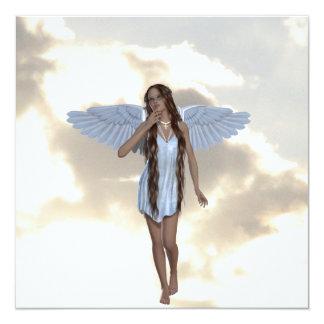 Invitaciones angelicales del bailarín de la nube invitacion personalizada