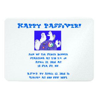 """Invitaciones animales de Seder Pesach del Passover Invitación 5"""" X 7"""""""