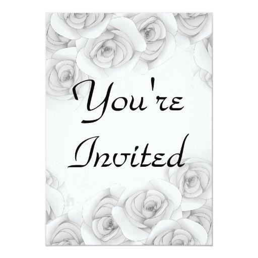 Invitaciones antiguas de los rosas para su texto invitacion personalizada