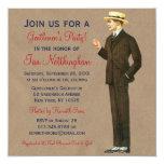 Invitaciones apuestas del fiesta de los caballeros invitación 13,3 cm x 13,3cm