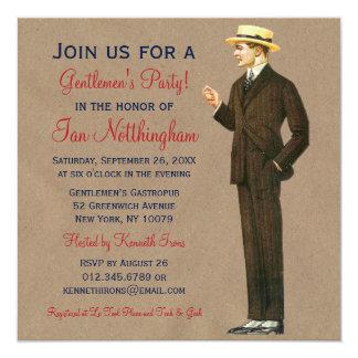 Invitaciones apuestas del fiesta de los caballeros comunicados personalizados