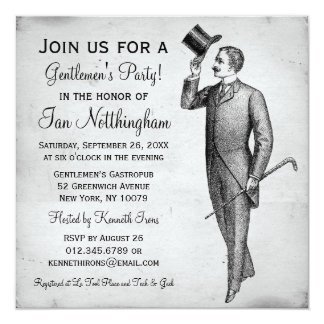 Invitaciones apuestas del fiesta de los caballeros anuncio personalizado