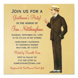 Invitaciones apuestas del fiesta de los caballeros comunicados personales