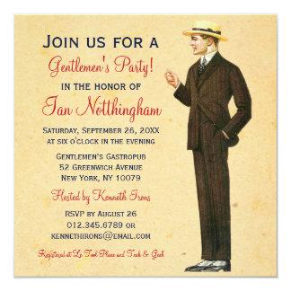 Invitaciones apuestas del fiesta de los caballeros invitación