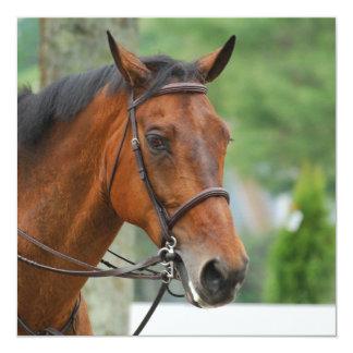 Invitaciones árabes del caballo de la bahía anuncios personalizados