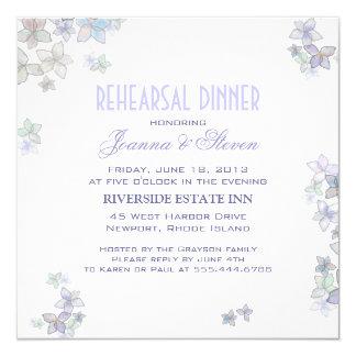 Invitaciones artísticas de la cena del ensayo de invitación 13,3 cm x 13,3cm