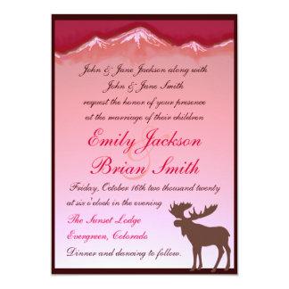Invitaciones artísticas del boda de los alces comunicados