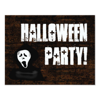 """Invitaciones asustadizas del fiesta de Halloween Invitación 4.25"""" X 5.5"""""""