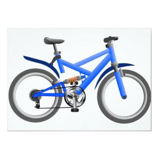"""Invitaciones azules de la bicicleta invitación 5"""" x 7"""""""