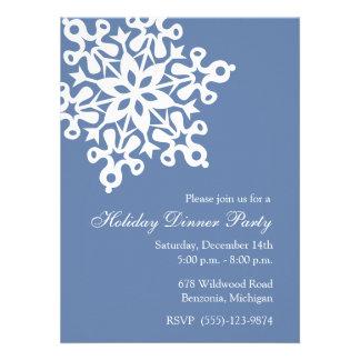 Invitaciones azules de la celebración de días fest anuncio