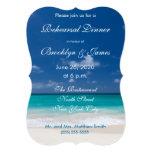 Invitaciones azules de la cena del ensayo del boda anuncio