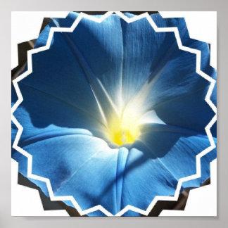 Invitaciones azules de la correhuela poster