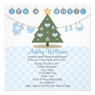 Invitaciones azules de la fiesta de bienvenida al invitacion personal
