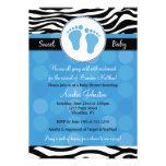 Invitaciones azules de la fiesta de bienvenida al  comunicado personal