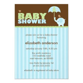 Invitaciones azules de la fiesta de bienvenida al invitación