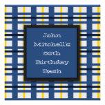 Invitaciones azules de la fiesta de cumpleaños de  invitaciones personalizada