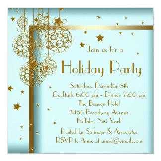 Invitaciones azules de la fiesta de Navidad del Invitación Personalizada