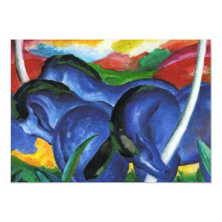 Invitaciones azules de los caballos de Franz Marc Comunicados Personales
