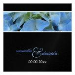 Invitaciones azules de /wedding del Hydrangea Anuncios