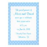 Invitaciones azules del boda de la flor anuncio personalizado