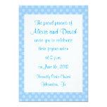 Invitaciones azules del boda de la flor invitación 12,7 x 17,8 cm