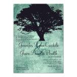 Invitaciones azules del boda de la silueta del invitación 11,4 x 15,8 cm