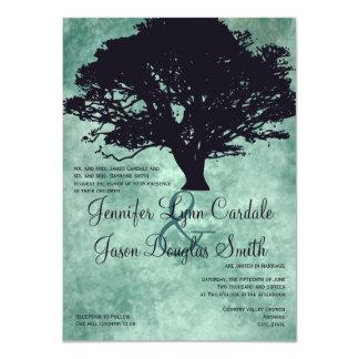 Invitaciones azules del boda de la silueta del comunicado personal