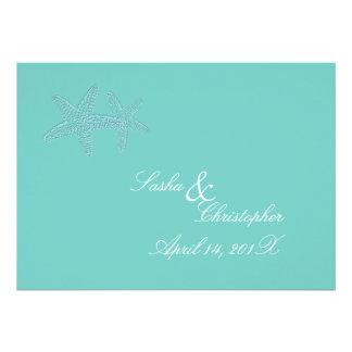 Invitaciones azules del boda de las estrellas de invitacion personal