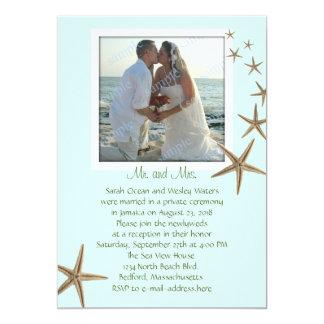 """Invitaciones azules del boda de las estrellas de invitación 5"""" x 7"""""""