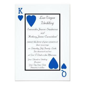 Invitaciones azules del boda del rey/de la reina invitaciones personales