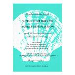 Invitaciones azules del boda del Seashell de la ag