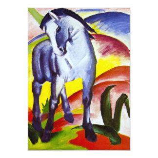 Invitaciones azules del caballo de Franz Marc Comunicados Personales
