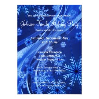Invitaciones azules del fiesta de las vacaciones invitación 11,4 x 15,8 cm