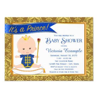 """Invitaciones azules del príncipe fiesta de invitación 4.5"""" x 6.25"""""""