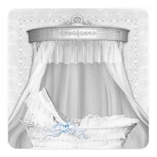 Invitaciones azules elegantes de la ducha del bebé invitacion personal