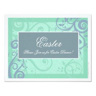 Invitaciones azules elegantes del fiesta de Pascua Invitación 10,8 X 13,9 Cm