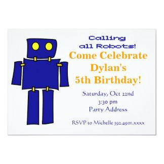 Invitaciones azules frescas de la fiesta de invitación 12,7 x 17,8 cm
