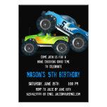 Invitaciones azules grandes de la fiesta de cumple
