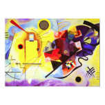 Invitaciones azules rojas amarillas de Kandinsky Comunicados