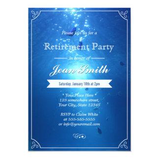"""Invitaciones azules submarinas elegantes del invitación 5"""" x 7"""""""