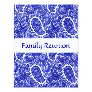 """Invitaciones azules y blancas de Paisley cualquier Invitación 4.25"""" X 5.5"""""""