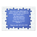 Invitaciones azules y blancas del capítulo del invitación 12,7 x 17,8 cm