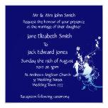 Invitaciones azules y blancas del personalizado invitación 13,3 cm x 13,3cm