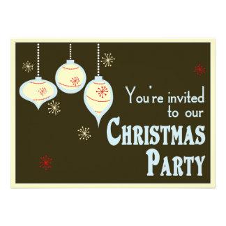 Invitaciones azules y del moreno retras del navida comunicados personales