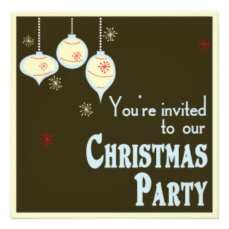 Invitaciones azules y del moreno retras del navida comunicado