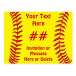 Invitaciones baratas del fiesta del softball postales