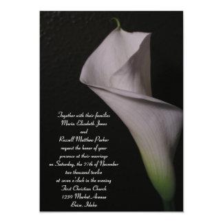 Invitaciones blancas del boda de la cala comunicado personal