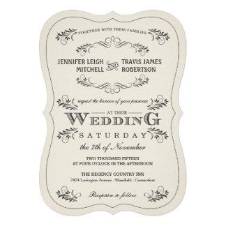 Invitaciones blancas del boda del Flourish adornad