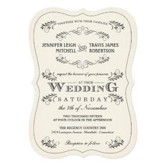 """Invitaciones blancas del boda del Flourish Invitación 5"""" X 7"""""""