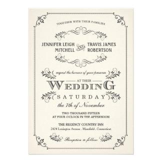 Invitaciones blancas elegantes del boda del Flouri